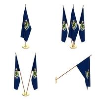 Maine Flag Pack 3D Model
