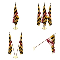Maryland Flag Pack 3D Model