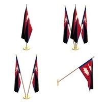 Nepal Flag Pack 3D Model