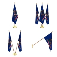 North Dakota Flag Pack 3D Model