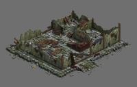 City - Architecture - Ruins 01 3D Model