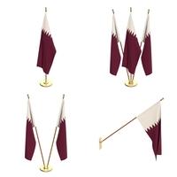 Qatar Flag Pack 3D Model
