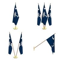 South Carolina Flag Pack 3D Model