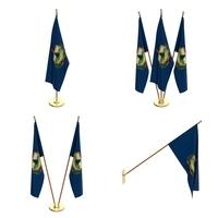 Vermont Flag Pack 3D Model