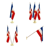 Yugoslavia Flag Pack 3D Model