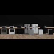 Large Kitchen Appliances 3D Model