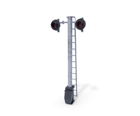 Rail Crossing Traffic Light 6 3D Model