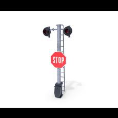 Rail Crossing Traffic Light 5 3D Model