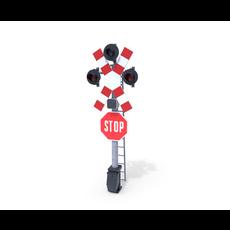 Rail Crossing Traffic Light 4 3D Model