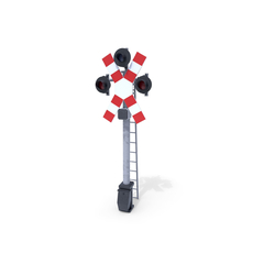 Rail Crossing Traffic Light 3 3D Model
