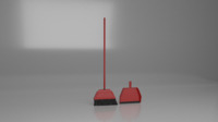 broom and dust pan 3D Model