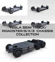 Tesla Chassis Pack(Semi Roadster Model S X 3) 3D Model