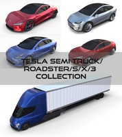 Tesla Pack(Semi Roadster Model S X 3) 3D Model