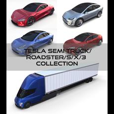 Tesla Pack(Semi Roadster Model S X 3) 3D Model