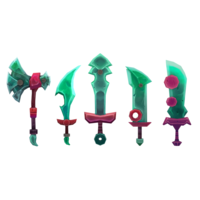 Fantasy Weapons Melee Pack 3D Model