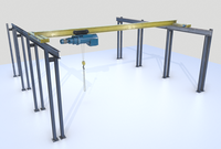 Overhead - Bridge - Warehouse Crane 3D Model