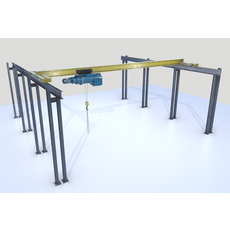 Overhead - Bridge - Warehouse Crane 3D Model
