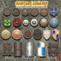 Medieval Fantasy Shield Collection Vol.1 3D Model