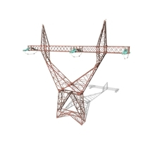 Electricity Pole 3 Weathered 3D Model