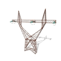 Electricity Pole 4 Weathered 3D Model