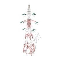 Electricity Pole 8 3D Model