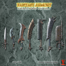 Savage Fantasy Sword Set Vol.1 3D Model