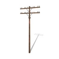 Electricity Pole 9 3D Model