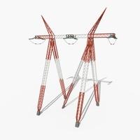 Electricity Pole 12 3D Model
