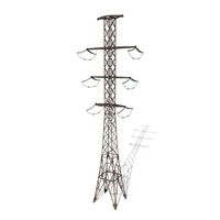 Electricity Pole 13 Weathered 3D Model