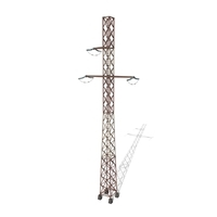 Electricity Pole 16 Weathered 3D Model