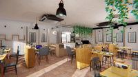 Coffee shop - interior and props 3D Model