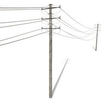 Electricity Pole 18 3D Model