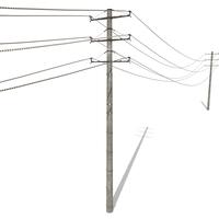 Electricity Pole 19 3D Model