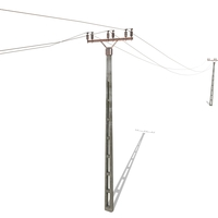 Electricity Pole 20 Weathered 3D Model