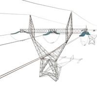 Electricity Pole 21 3D Model