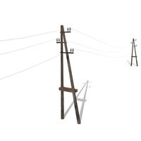 Electricity Pole 23 3D Model