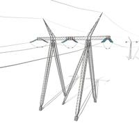 Electricity Pole 24 3D Model