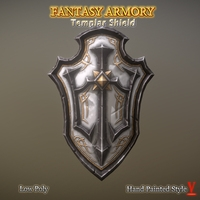 Fantasy Armory - Templar Shield 3D Model