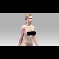 Jill Valentine Nude 3D Model