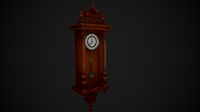 Long Case Wall Clock 3D Model