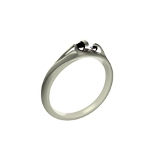 Black Pearl Ring 3D Model