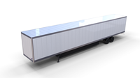 57 foot Box Semi Trailer 3D Model