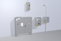Factory control panels 3D Model