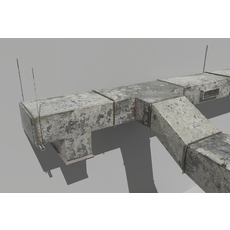 Old Air ducts modular ventilation system 3D Model