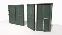 Industrial metal gate 3 3D Model