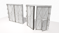 Industrial metal gate 1 3D Model