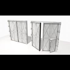 Industrial metal gate 1 3D Model