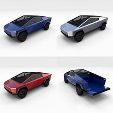 Tesla Cybertruck Pack 3D Model