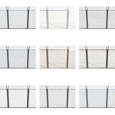 10 Piece Low Poly Fence Pack 1 3D Model