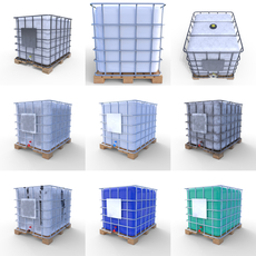 IBC Container Pack 3D Model